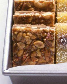 Caramel-Nut Bars Recipe