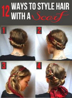 Incredibly Chic Ways to Style Hair With a Scarf