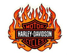 """Vintage 1990's Genuine HARLEY DAVIDSON Licensed Bar and Shield Flame ~ Stick Most Anywhere ~ 6-1/2"""" x 5-3/4"""" Decal Sticker Made in the USA!"""