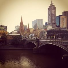 Melbourne CBD from Southbank Promanade
