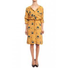 Robe Manches longues Details 2 poches sur la poitrine Ceinture amovible 100% viscose LOVE this dress and the print!