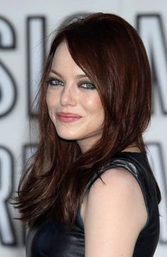 Emma Stone Dark Red