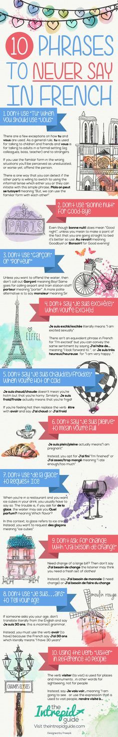Top 10 Phrases to Never Say in French [Cheat-Sheet