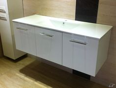 1200mm Square White / Black Oak vanity - wall | Trade Me