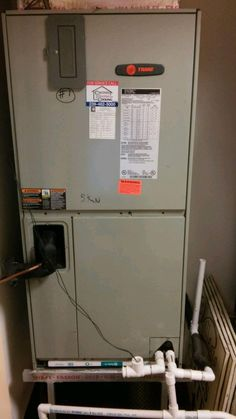 This Is A Before Picture Of An Old Air Handler Located In A Closet In A