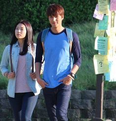 Lee Min Ho and Park Shin Hye on set of #kdrama 'The Heirs'