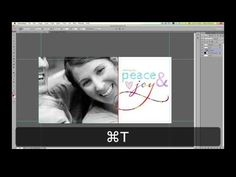 ▶ How to Make a Custom Christmas Card or Holiday Card using Photoshop or Photoshop Elements - YouTube
