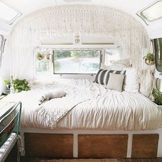 Our vintage Airstream bathroom remodel tips and step-by-step renovation photos. Find a complete list of products used for a Airstream bathroom remodel. Furniture, Caravan Renovation, Interior, Home, Remodeled Campers, Rv Living, Home Remodeling, Remodel Bedroom, Van Home