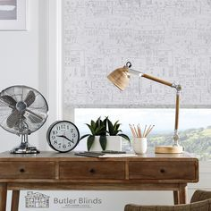 Whether you're using shutters, blinds, curtains and more to add privacy or personality to your study, you'll find inspiration with our pick of the best home office window treatments Blinds For Windows, Windows And Doors, Hillarys Blinds, Cleaning Blinds, Small Home Offices, Modern Style Homes, Best Desk, Roller Blinds, Desk Lamp