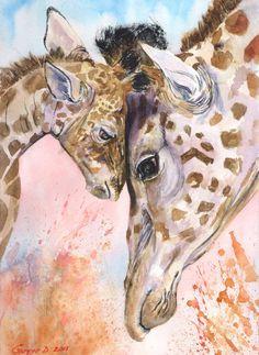 Giraffes family by GeorgeArt23.deviantart.com on @DeviantArt