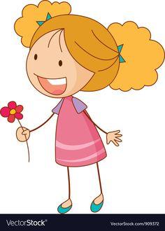 Flower girl vector image on VectorStock