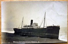 Real-photo-PC-Wreck-Dorothea-Feb-1914-Chesil-Beach-Portland-Dorest-B2 Portland Dorset, Shipwreck, Sailing Ships, Worlds Largest, Seaside, Boat, English, Painting, Dinghy