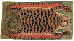 Tibetan tiger rug. I didn't even know this was a thing, and now I need one.