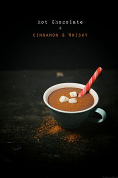 Hot Chocolate with Cinnamon & Whiskey | A Brown Table