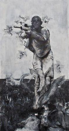 DAN BEUDEAN The Hunter, 2013 65 × 33 9/10 in 165 × 86 cm