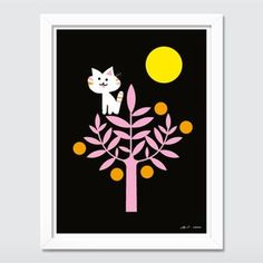 Living Large: Kitty + Citrus Poster