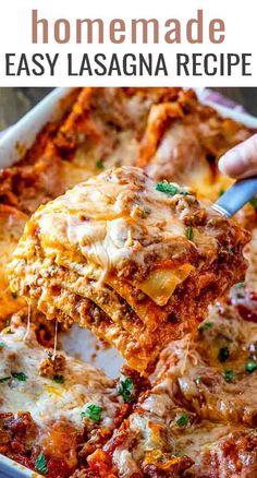 Cottage Cheese Lasagna Recipe, Easy Lasagna Recipe With Ricotta, Classic Lasagna Recipe, Best Lasagna Recipe, Lasagna Recipe With Oven Ready Noodles, Lasagna Noodles, Best Easy Lasagna Recipe, Easy Homemade Lasagna, Healthy Lasagna Recipes