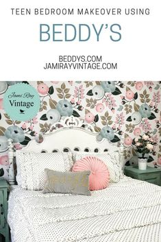 We collaborated with Beddy's for this teen bedroom makeover and it has been a life changer! Shabby Chic Interiors, Shabby Chic Decor, Boho Decor, Vintage Decor, Brighton, Floral Bedroom Decor, Beddys Bedding, Teen Bedroom Makeover, Gazebo
