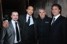 Con Biagio Izzo e il mio amico detto er Manzo e a destra c'è uno stronzo ambulante che si chiama Antonio Di Ruocco