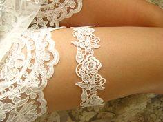 white bridal garter white lace garter wedding garter by annabrides, $15.90