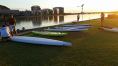 Race boards are out tonight on Tempe Town Lake.   #sup #arizona #performance