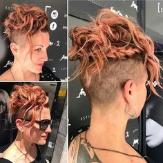 Side braid with mohawk up-do.