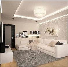 awesome minimalist living room decor ideas page 33 – nothingideas House Ceiling Design, Ceiling Design Living Room, Home Ceiling, Home Room Design, Home Interior Design, Living Room Designs, Classy Living Room, Living Room Decor Cozy, Home Living Room