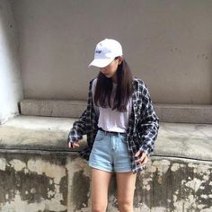Korea spring fashion, k fashion casual, ulzzang fashion summer, korean K Fashion, Korea Fashion, Asian Fashion, Fashion Outfits, Fashion Ideas, Fashion Hair, India Fashion, Fashion Black, Dress Fashion