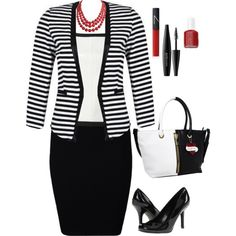 Classic Red, White, and Black, created by penny-martin on Polyvore