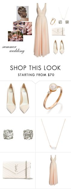 """""""summer wedding"""" by natalyholly on Polyvore featuring Francesco Russo, Kendra Scott, Yves Saint Laurent and LULUS"""