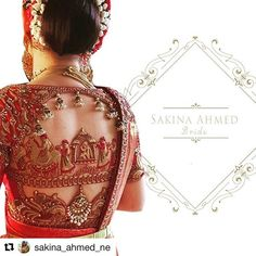 #Repost @sakina_ahmed_ne with @get_repost An inspiration taken form the Indian weddings and these are setting trends in the future bridal wear. These designs that beautifully narrates the wedding story of a Raja and Rani and their Bharath. My bride Palak adding to the outfit accessorised with perfect jewellery looking no less than a Rani herself . . . #designsbysakinaahmed #bride #fashiondesigner #fashiondesigning #blouse #red #loveforred #bigfatindianweddings #fashionaddict #fashionpost…
