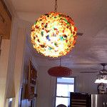 Multicolor Chunk Hanging Lamp by Eddie's 1950s Spaceage Bachelorpad