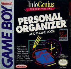 InfoGenius Productivity Pak: Personal Organizer and Phone Book (1991) for Game Boy