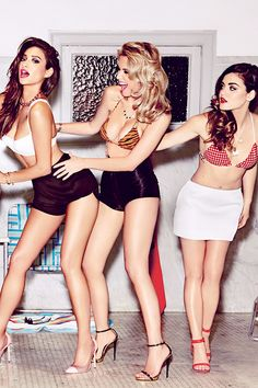 PLL GQ shoot Shay Mitchell, Ashley Benson, and Lucy Hale.
