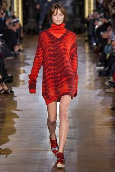 Get knitty. Fall is here and Haper's Bazaar tells us how to wear a sweater dress.