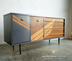 Mid century dresser custom design by Martha Leone Design