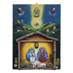 pannello decorativo rappresentate un presepe da parete, by creo.sostenibile, 30,80 € su misshobby.com