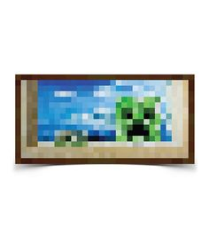 Look at this Minecraft Creeper Window Poster on #zulily today!