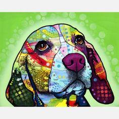 Dean Russo Art  Pop Animal Prints  I love beagle doggies!