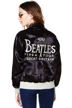 Beatles Tour Letterman Jacket. I want this so much.