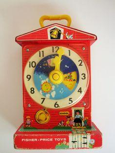 Fisher-Price 'Music Box Teaching Clock No. 998 by TheChildrensRoom