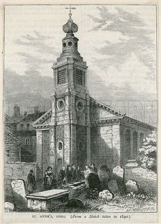 St Anne's Church, Soho. (1840) loads of my family were baptized and married here in the 19th century