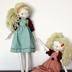 Irmãs #fabricdolls #handmadedolls