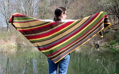 Time Traveler's Shawl - a take off on the Dr. Who scarf I think. Free download on Ravelry