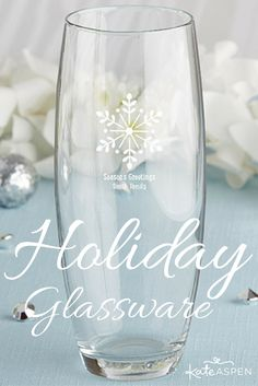 Tis the season! These personalized glasses are the perfect gift to make your Christmas party or holiday celebration extra special!