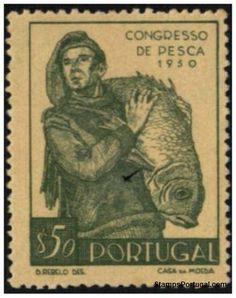 Selos - Afinsa nr 731 - Scott nr 729 - CONGRESSO DE PESCA - 1950