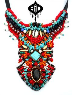 embroidery bib necklaces - Google Search