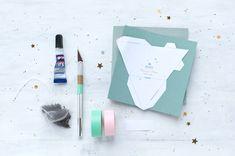 """DIY / selber machen: """"Cadeau Thé"""" - so könnte die Vorlage aussehen um einen dreieckigen Teebeutel zu verpacken..."""