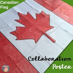 FREE Canadian Flag collaboration poster for students to colour! Canadian art project for students. School Art Projects, Projects For Kids, School Ideas, Remembrance Day Art, Posters Canada, Flag Display Case, Around The World Theme, K Crafts, Canadian Art