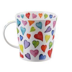 Dunoon Warm Hearts Cairngorm shape Mug | Temptation Gifts